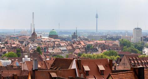 Stadtübersicht Skyline Nürnberg